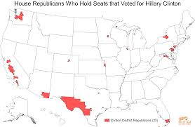 My 2016 Presidential Election Electoral Map Prediction by These 23 Republicans Hold Congressional Districts That Voted For