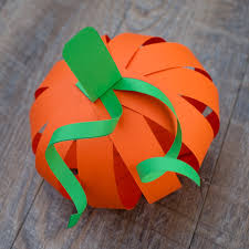 easy paper strip pumpkin craft for kids