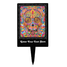 sugar skull cake topper sugar skull cake toppers zazzle