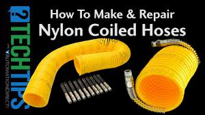 how to make and repair nylon coiled hoses youtube