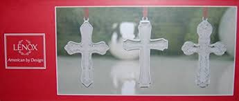 lenox silver plated cross ornaments set of 3 home