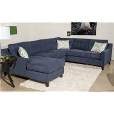 Blue Sectional With Chaise Klaussner Audrina Contemporary 3 Piece Sectional Sofa With Chaise