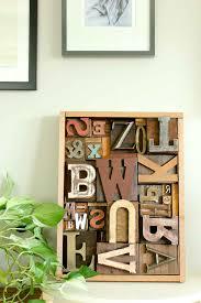 Interior Design Snazzy Main Wooden by Diy Art Idea With Faux Letterpress Print Blocks Make U0026 Do Crew