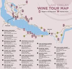 Lake Washington Map by Lake Chelan Wine Winery Tasting Room Tour Map Washington Winery