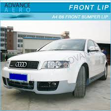 audi b6 kit for 2002 2003 2004 audi a4 b6 v style front bumper lip spoiler