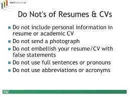 Academic Resume Department Of Mechanical Engineering Ppt Video Online Download