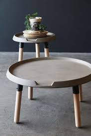 concrete and wood coffee table lyon beton concrete wood coffee table from rockett st george