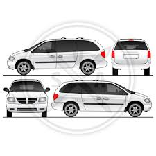 grand caravan van template stock vector art