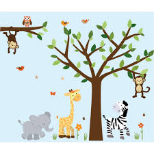 Jungle Nursery Wall Decor Wall Decal With Elephant Wall For Boys