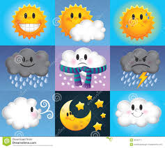 cartoon weather symbols stock image image 30405711