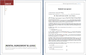 rental agreement and lease template word u0026 excel templates