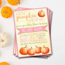 pumpkin baby shower invitation fall baby shower invitation
