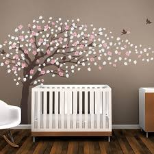Brown Tree Wall Decal Nursery Brown Cherry Blossom Tree For Nursery Decor Vinyl Wall Decal For