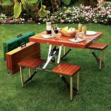 aluminum portable picnic table lightweight easy to set up and carry this attractive wooden