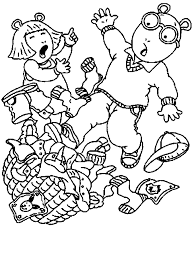 clothes coloring pages arthur slip pile of clothes arthur coloring pages pinterest