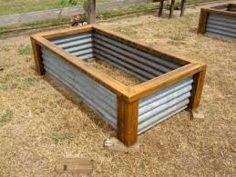 Corrugated Metal Planters by Rustic Garden Box Raised Garden Beds Vegetable Planter Boxes