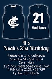 carlton invitations carlton football club afl invitation afl themed party