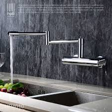 wall mount kitchen faucet single handle hpb brass morden folding kitchen faucet wall mounted sink mixer
