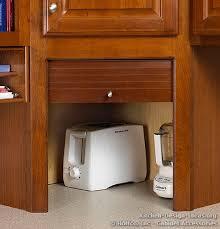 Cabinet Garage Door Garage Hides Your Appliances On The Countertop A Wood Door