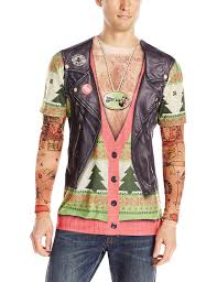 tattoo sleeve london faux real men u0027s biker ugly x mas sweater with tattoos t shirt and