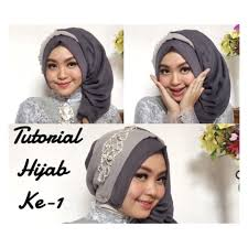 tutorial makeup natural hijab pesta 4 tutorial hijab segi empat paris rawis wisuda pesta kondangan