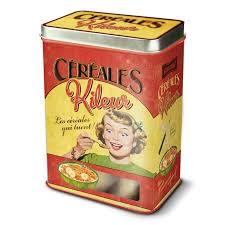 boite metal cuisine boîte à céréales métal céréales kileur natives déco rétro et