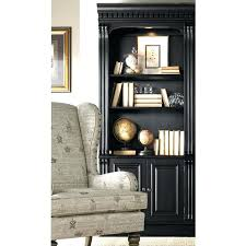 bookcase with sliding glass doors black estate by sauder ideas