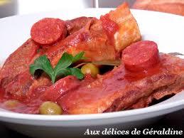 cuisine catalane recettes aux délices de géraldine poitrine de veau à la catalane