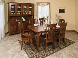 Amish Tapered Mission Table - Amish dining room table