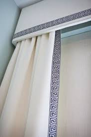 Contemporary Cornice Boards Gray Geometric Cornice Board Valance Window Treatment Custom