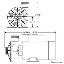2hp waterway spa flo ii tub pump u0026 motor 1 5
