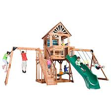 6 outdoor wooden playsets george u0027s top finds