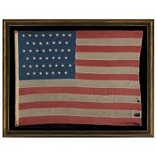 American Flag Rugs Jeff Bridgman Antique Flags And Painted Furniture 45 Stars On An