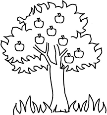 apple tree and grass colouring page apple tree and grass