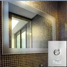 Heated Bathroom Mirror With Light Hotel Heated Mirror Bathroom Mirror Defogger