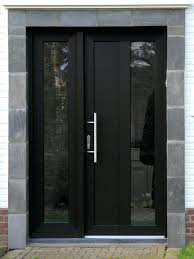 Exterior Entry Doors With Glass Modern Exterior Front Doors With Glass Black Front Door With Glass