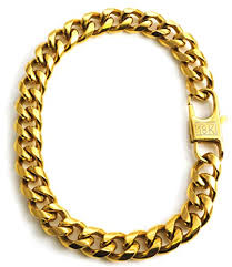 cuban chain link bracelet images 18k gold plated cuban link chain bracelet for men jpg