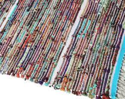 Kitchen Rag Rugs Washable Rag Rug Loom Woven Rag Rug 22 X 35 Cotton Terry Cloth