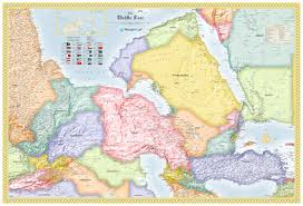 middle east map kazakhstan middle east wall map maps