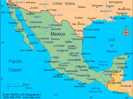 mexico on map the magellan map of mexico