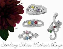 silver mothers ring sterling silver mothers rings and pendants