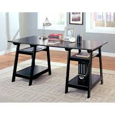 coasters for table legs black trestle table coaster company trestle black wood desk black