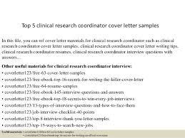 Clinical Research Coordinator Resume Top 5 Clinical Research Coordinator Cover Letter Samples 1 638 Jpg Cb U003d1434962994