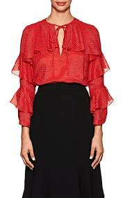 metallic blouse j mendel metallic striped ruffled silk blend blouse barneys