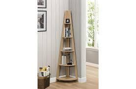 Corner Bookcase Oak Birlea Nordic Corner Bookcase Oak From The Bed Station