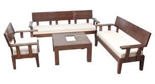 Exclusive  Trendy Sofa Set With Centre Table In Teakwood By Bic - Teak wood sofa sets