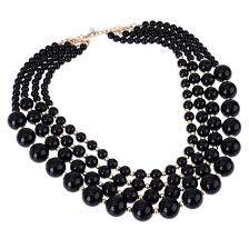 fashion black pearl necklace images Pearl necklaces jpg