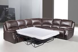 Corner Sofa Recliner Esprit Leather Corner Sofa With Recliner And Sofabed Brown