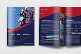 12 page brochure template telecom services brochure template 12 pages by owpictures