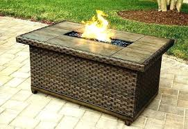 gas fire pit table uk outdoor gas fire pit table decoration rectangular tile top fire pit